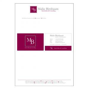 Maike Birnbaum - Logo, Geschäftsausstattung, Website