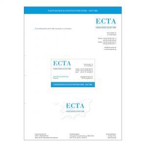 Ecta GmbH - Logo, Geschäftsausstattung, Website
