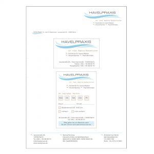 Havelpraxis Allgemeinmedizin - Geschäftsausstattung, Praxisschilder