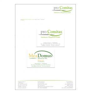 Pro Comitas / Mea Domus - Logos, Geschäftsausstattung, Websites, Schilder